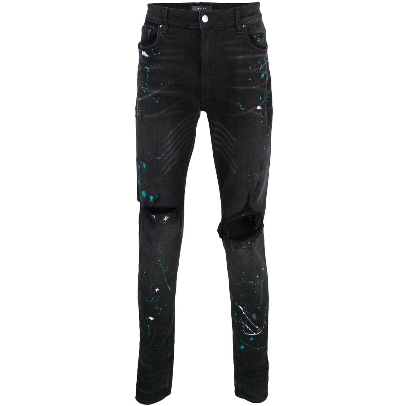 Amiri Paint Splatter Jeans (Black)