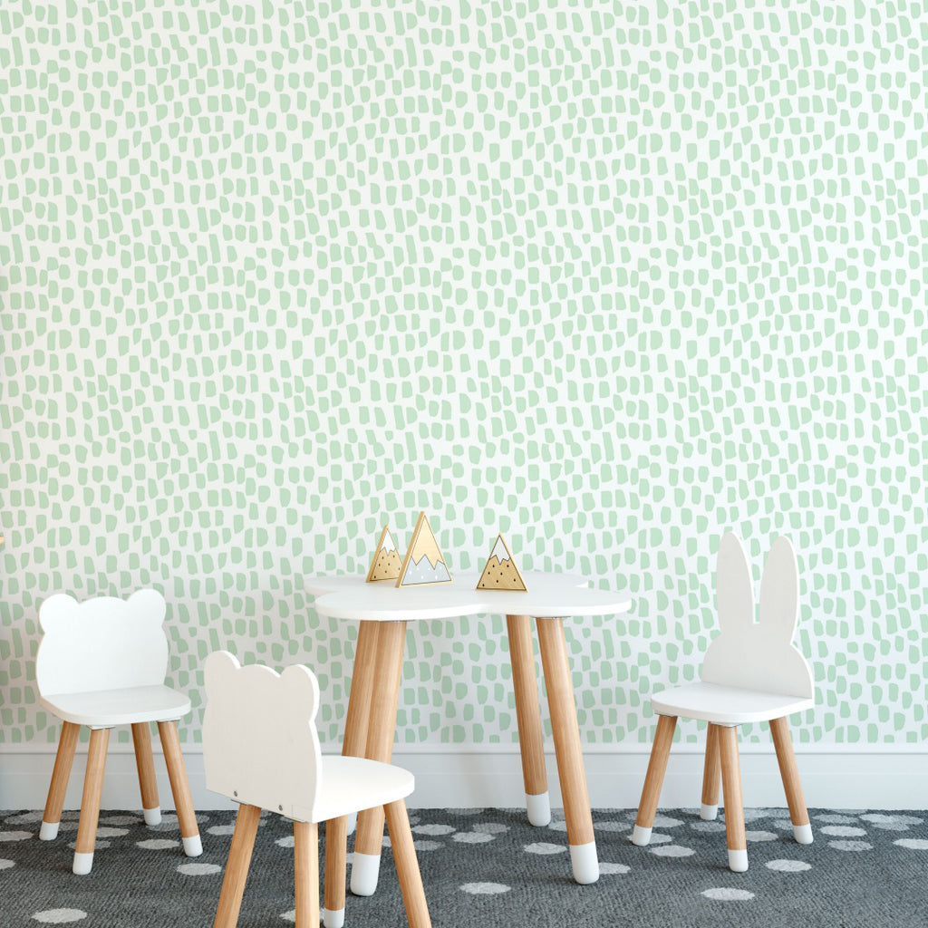 Pistachio Brush Stroke Self Adhesive wallpaper
