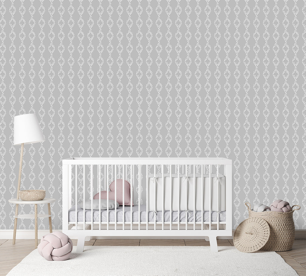 Cleo Grey Self Adhesive Wallpaper