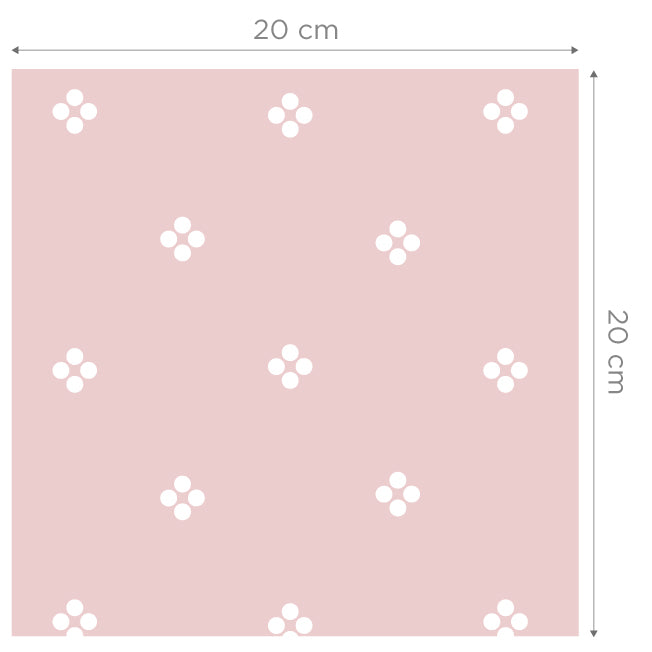 Sample Anna Pink Self Adhesive Wallpaper