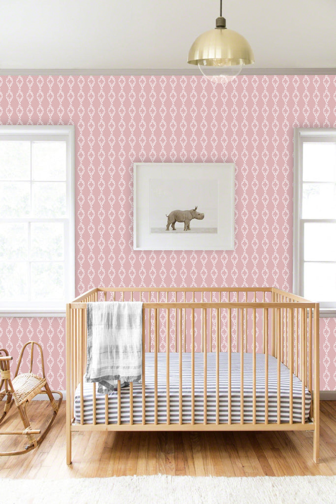 Cleo Pink Self Adhesive Wallpaper