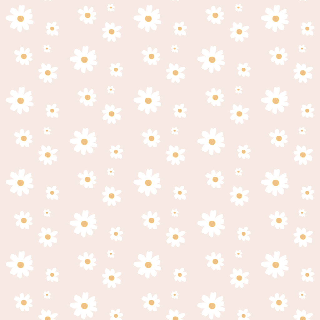 Sample Daisy Pink Self Adhesive Wallpaper