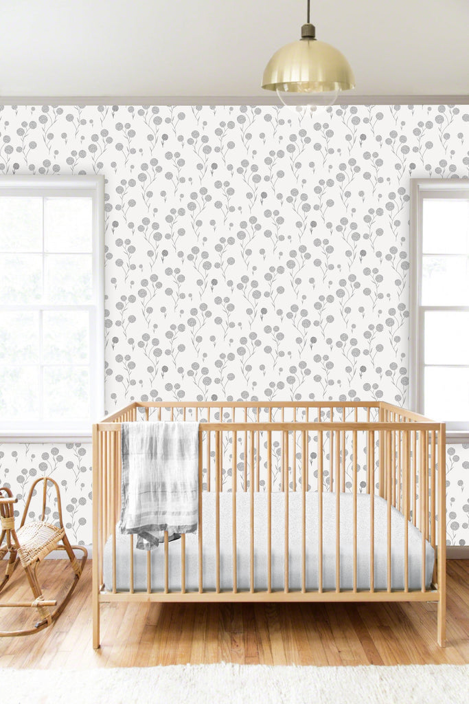 Elin Black/White Self Adhesive Wallpaper