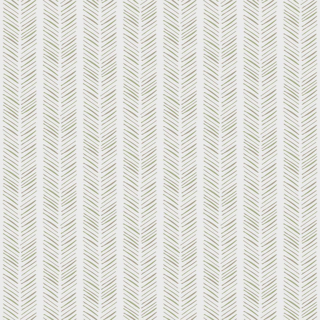 Harry Green/Grey Self Adhesive Wallpaper