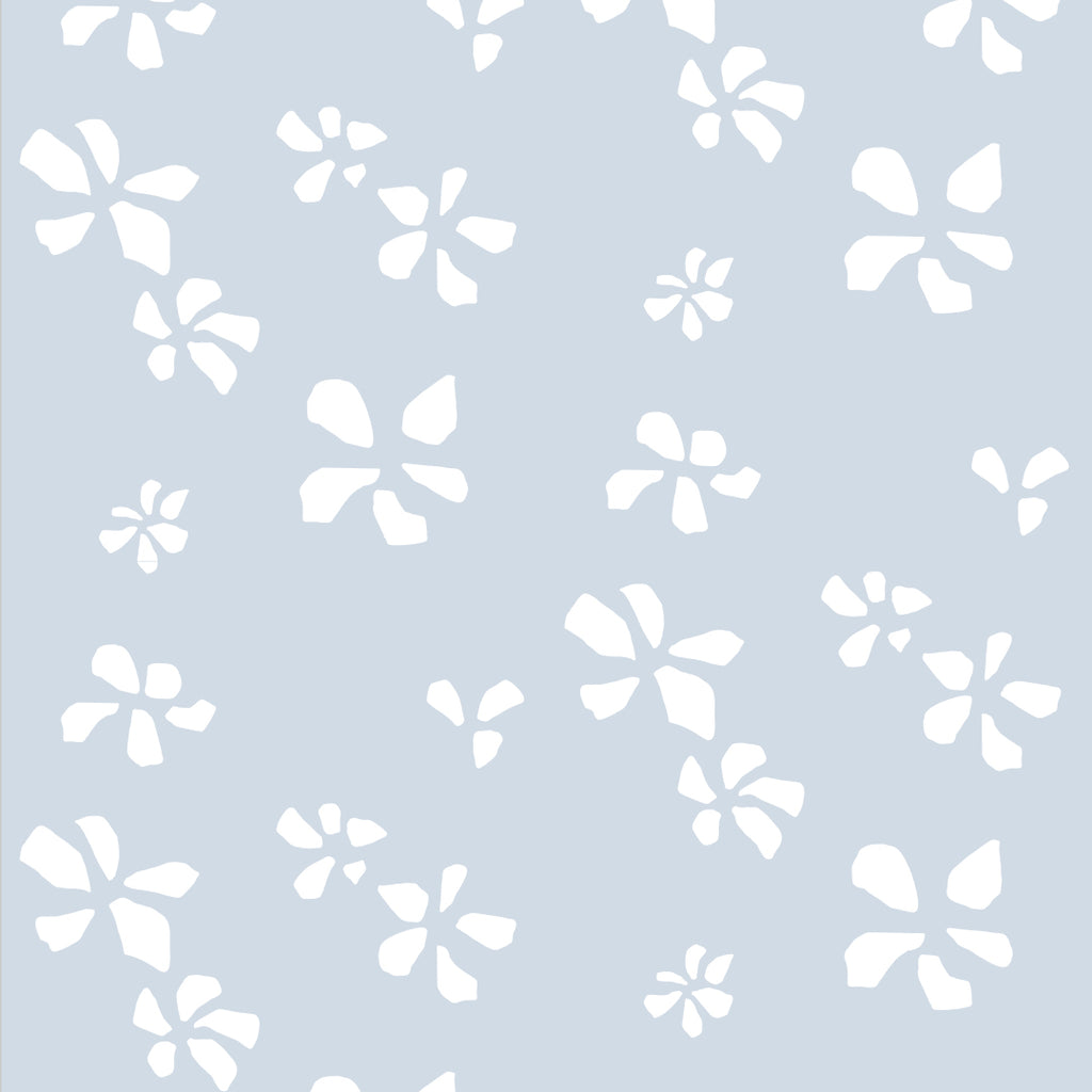 Sample Klara Baby Blue Self Adhesive Wallpaper