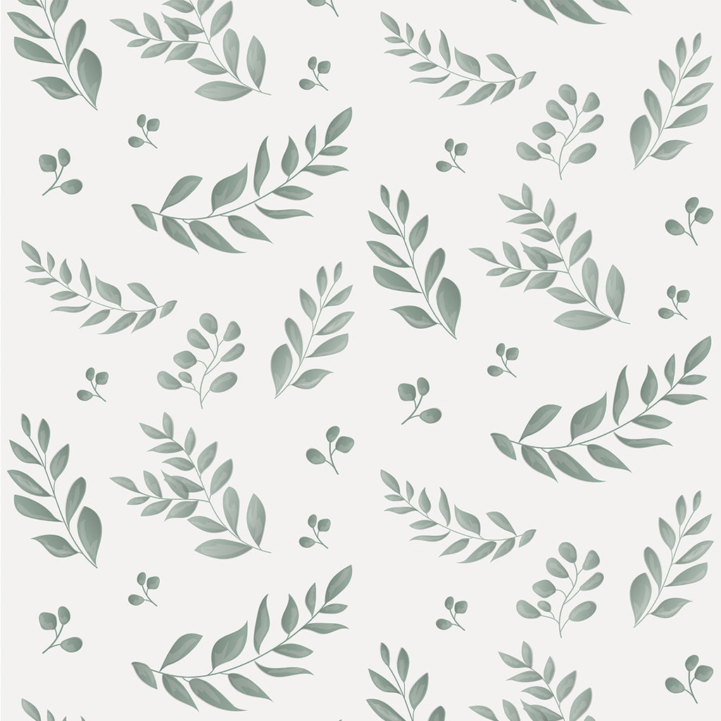 Sample Leafy Green Self Adhesive Wallpaper