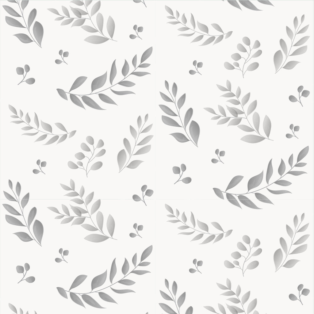 Sample Leafy Grey Self Adhesive Wallpaper