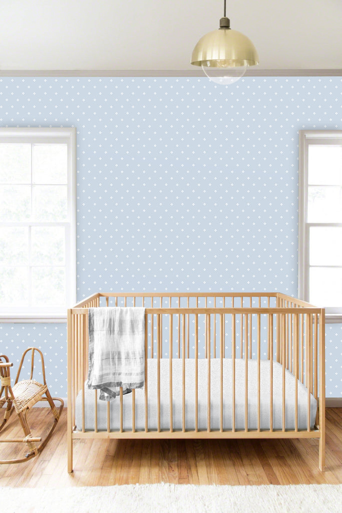 Anna Blue Self Adhesive Wallpaper