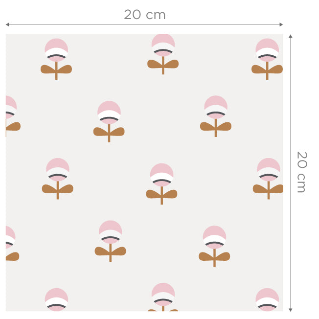 Pia Pink/Brown Self Adhesive Wallpaper