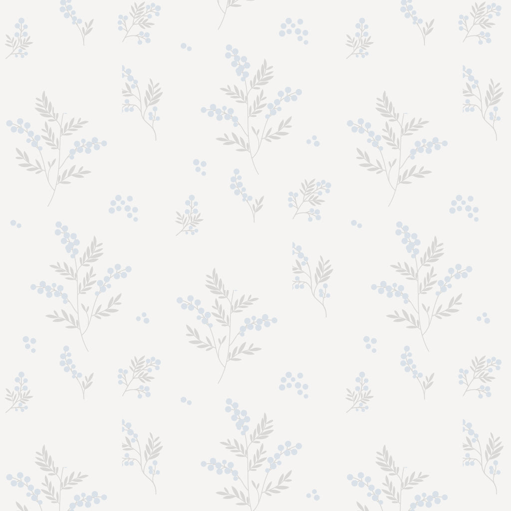 Tove Blue/Grey Self Adhesive Wallpaper