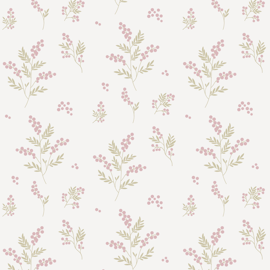 Sample of Tove Pink/Green Self Adhesive Wallpaper