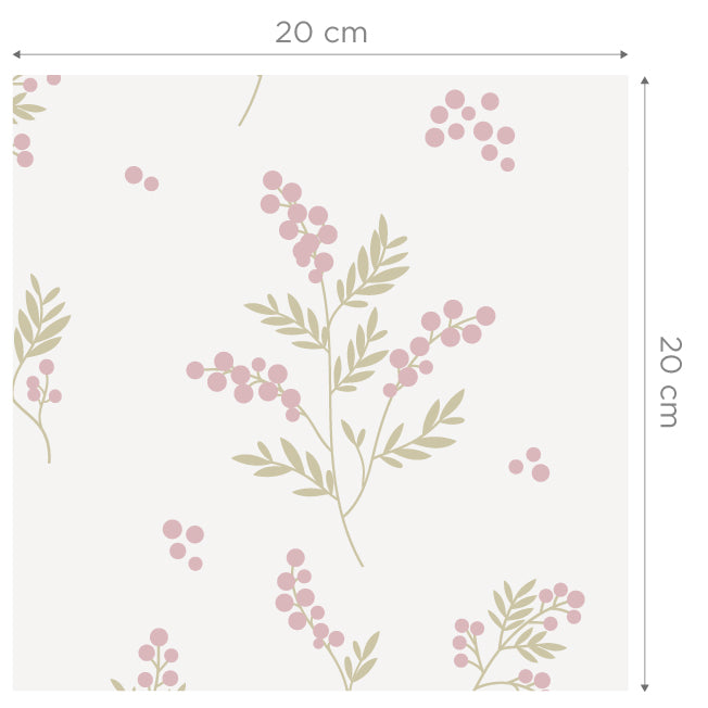 Tove Pink/Green Self Adhesive Wallpaper