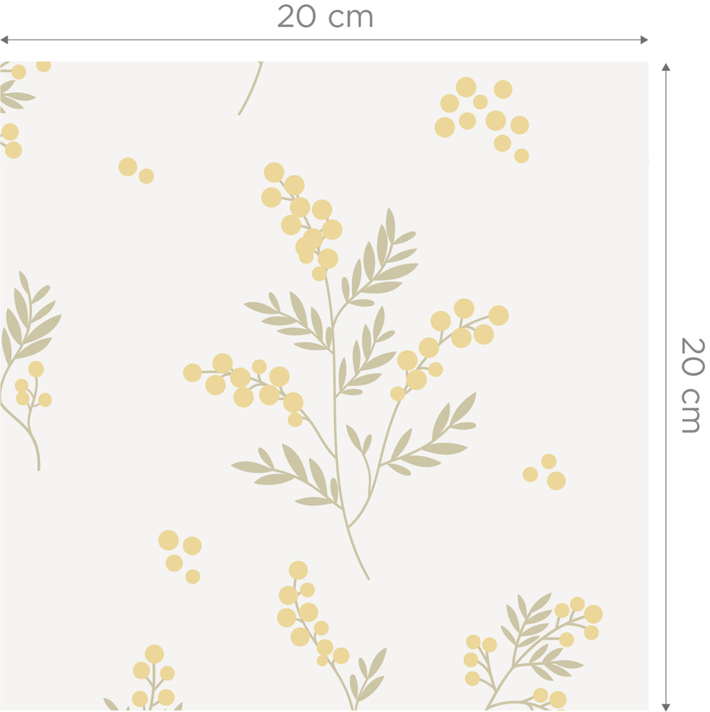 Tove Yellow/Green Self Adhesive Wallpaper