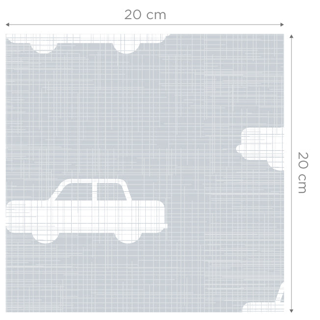 Cars Grey Self Adhesive Wallpaper