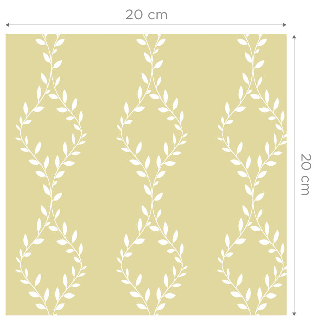Cleo Yellow Self Adhesive Wallpaper