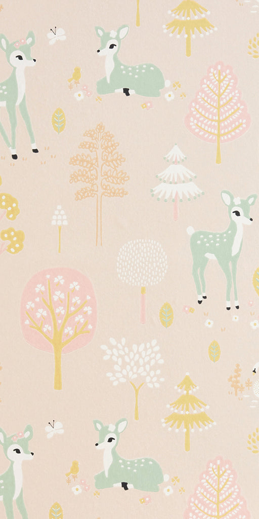 Golden Woods Sweet Pink wallpaper