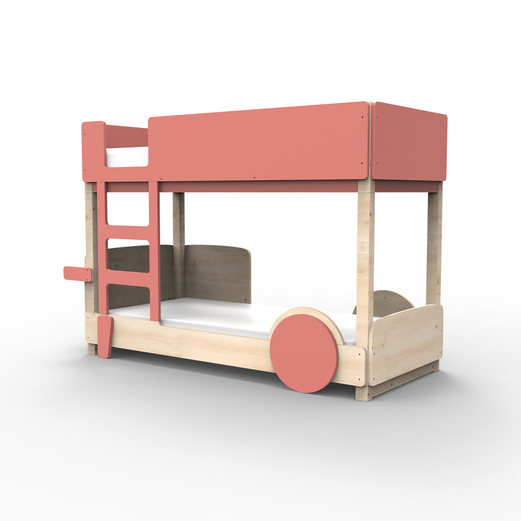 Discovery Bunk Bed Coral Red - Mathy By Bols