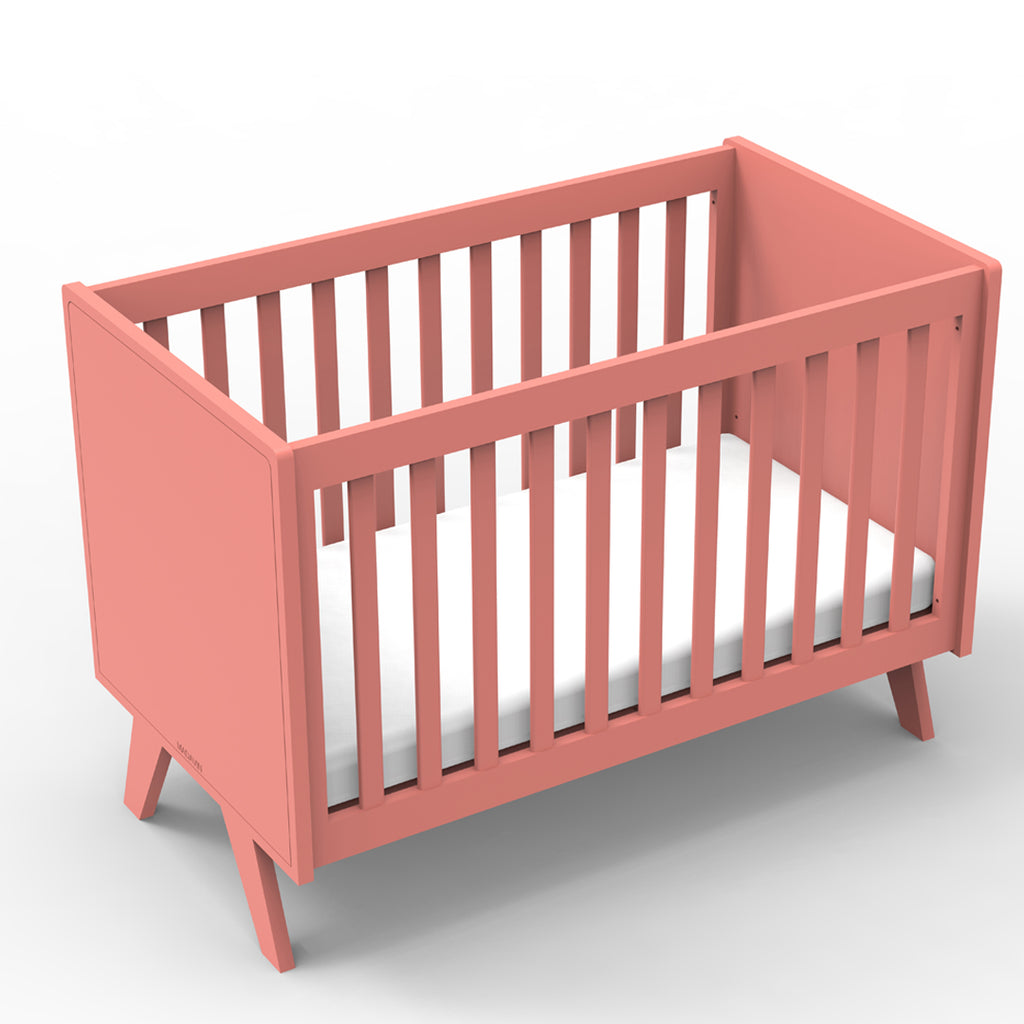 Mathy By Bols baby cot - Coral Red