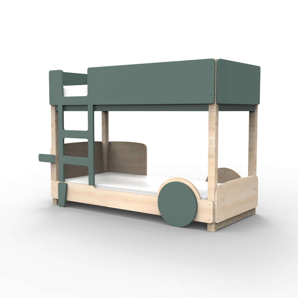 Discovery Bunk Bed  Dark Green- Mathy By Bols