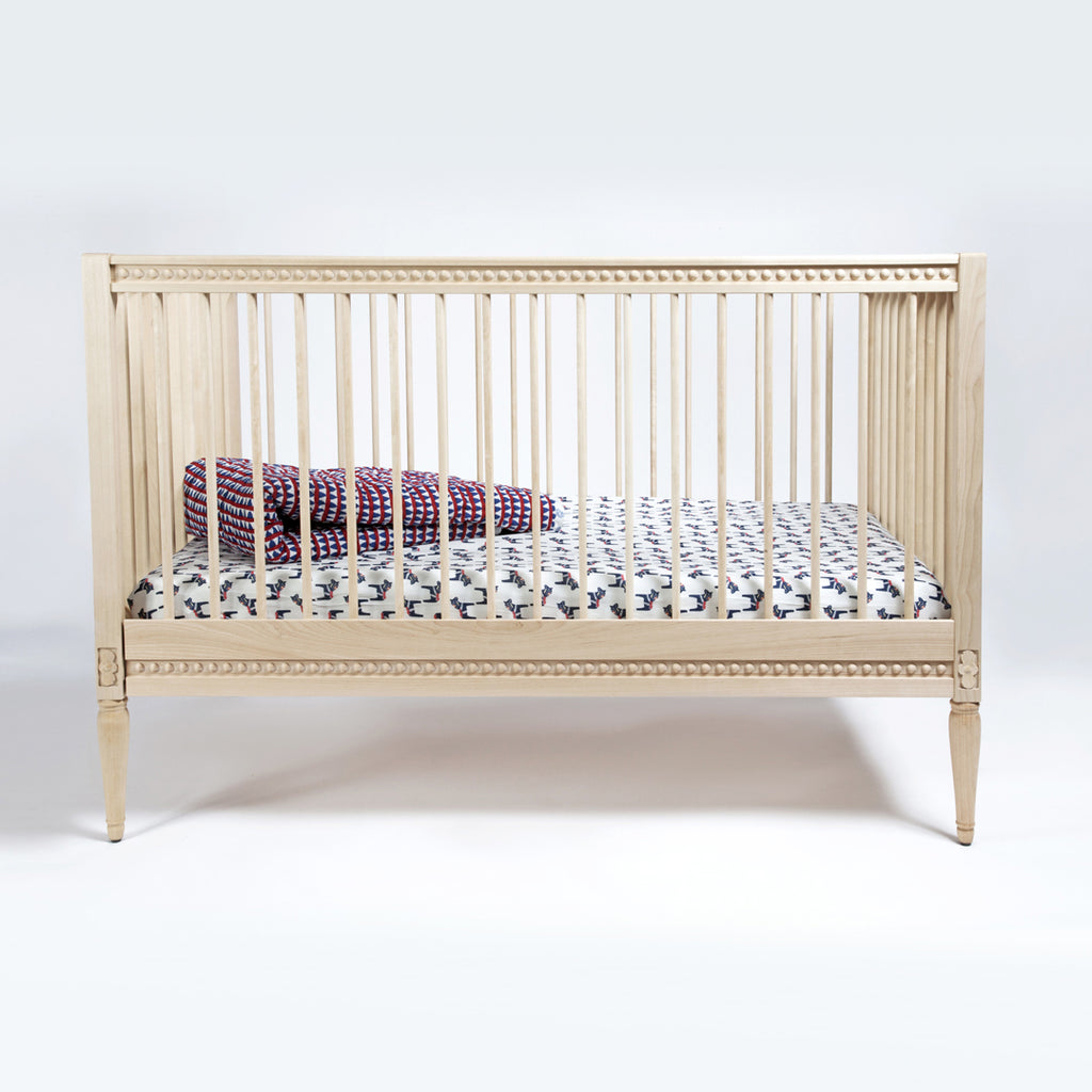 Gustavienne baby cot - Natural birch