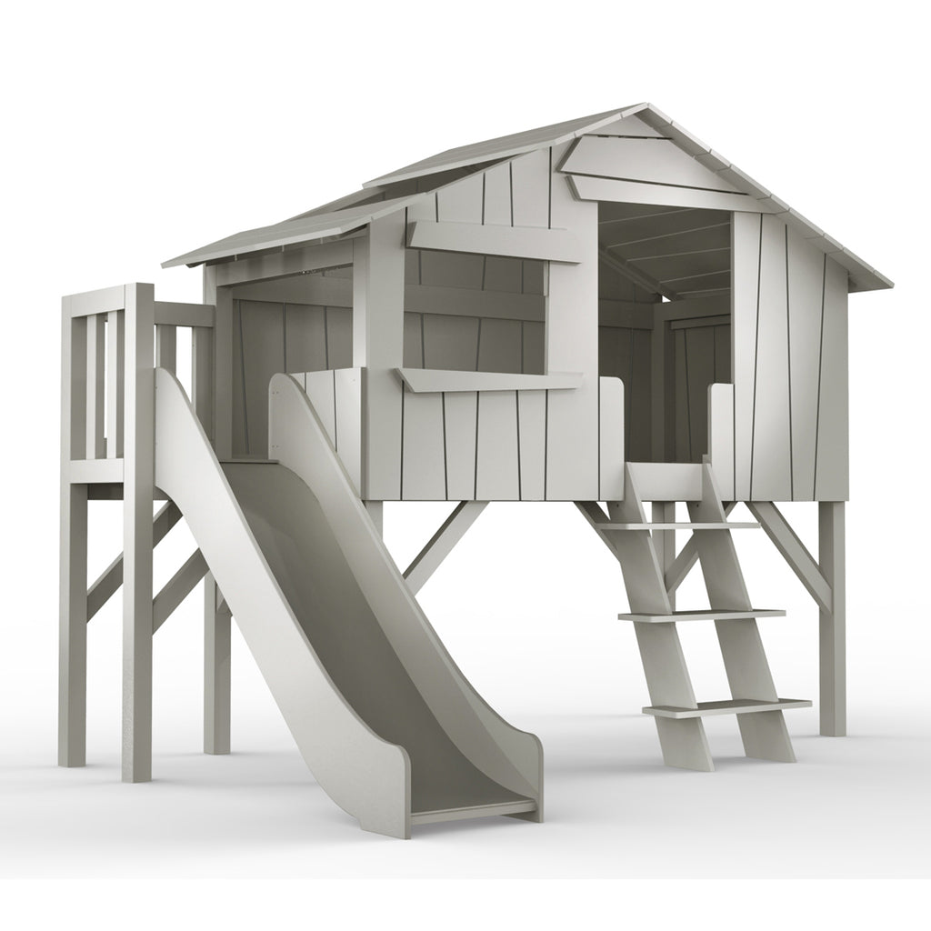 Single Treehouse with Plateform and Slide - Mathy by Bols
