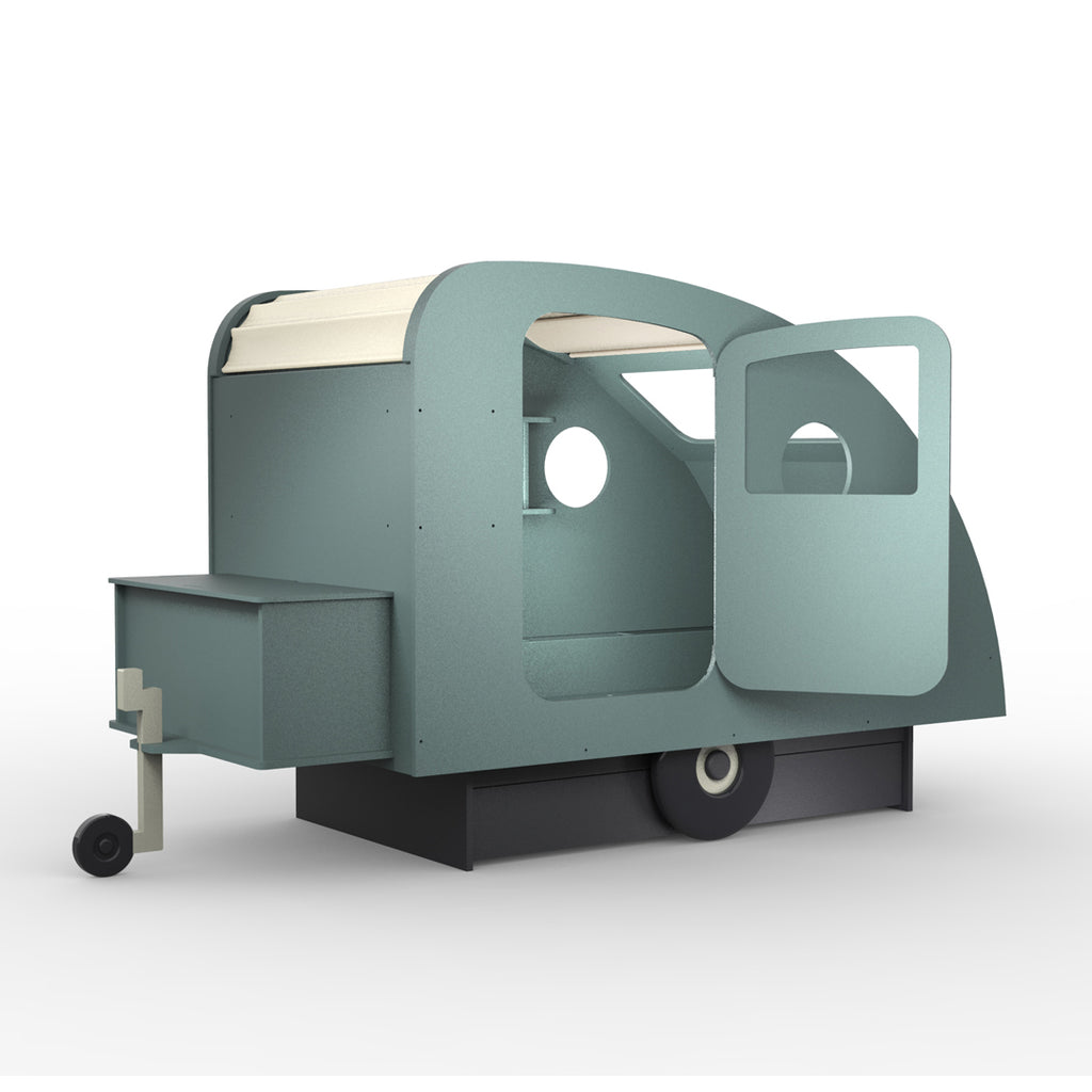 Caravan Bed Moss Green - Mathy by Bols