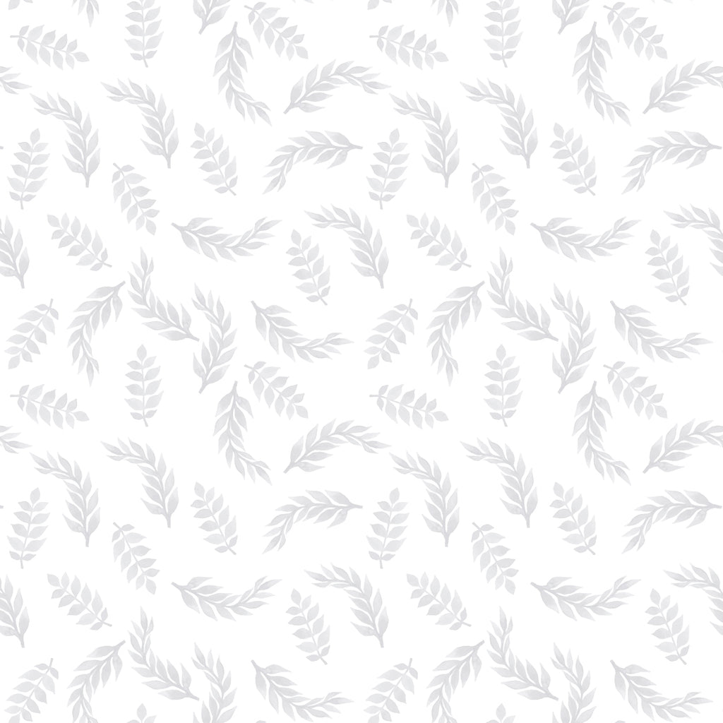 Leaves Grey Self Adhesive wallpaper for Nursery or Kid's Room