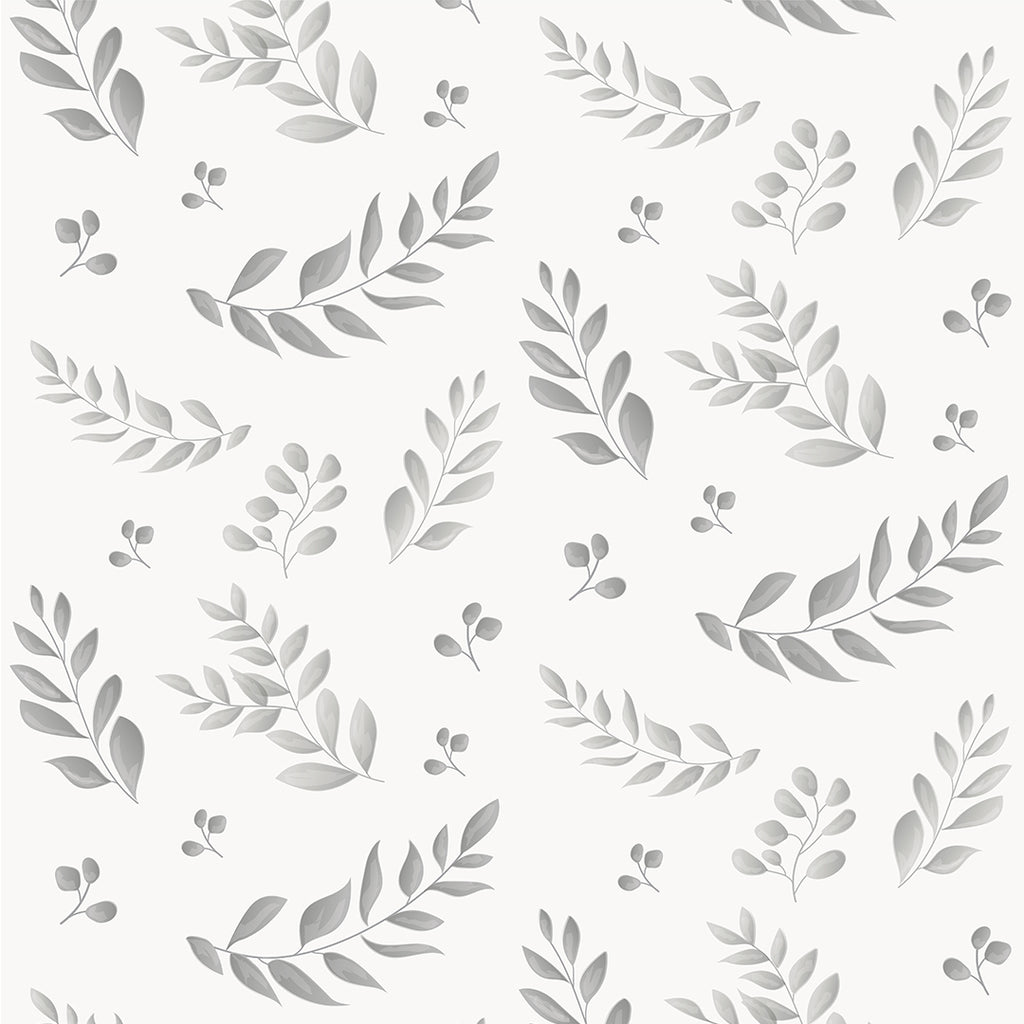Leafy Grey Self Adhesive Wallpaper