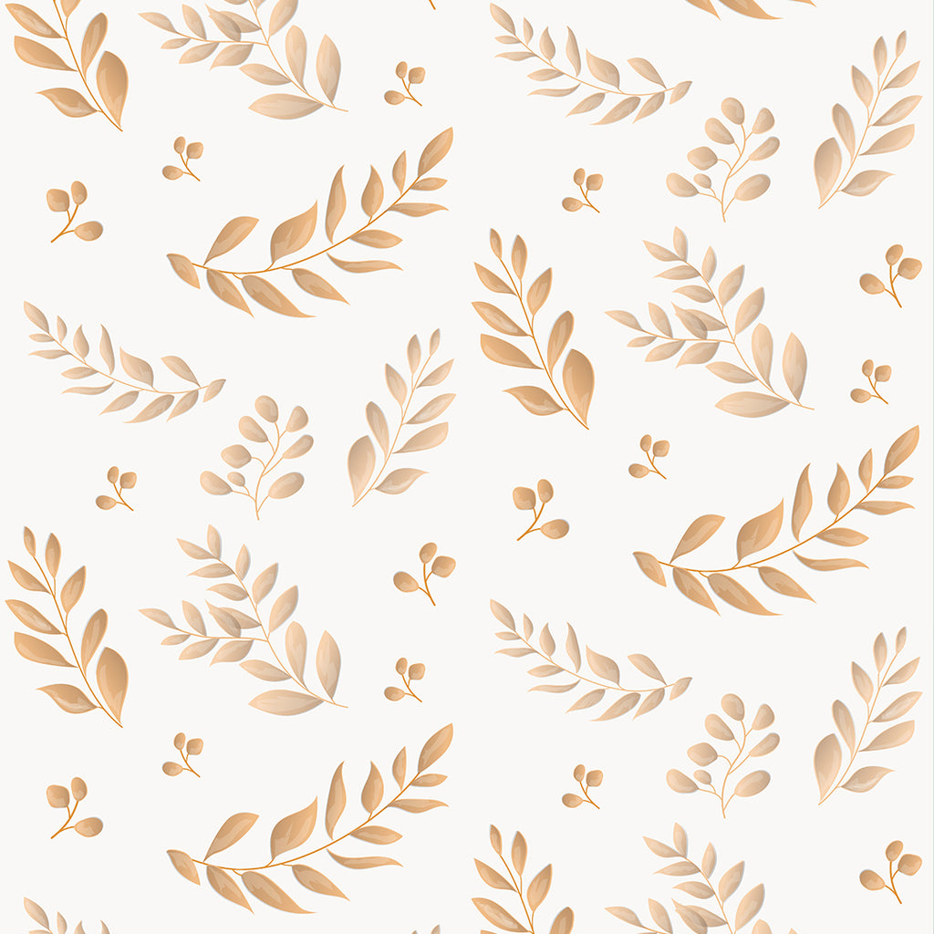 Leafy Rusty Terracotta Self Adhesive Wallpaper