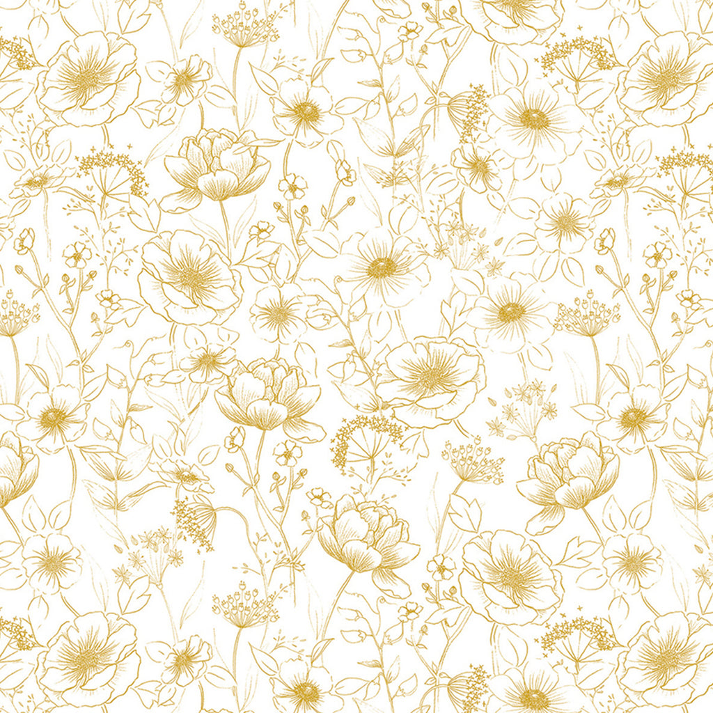Ochre Flowers wallpaper for Nursery or Kid's Room