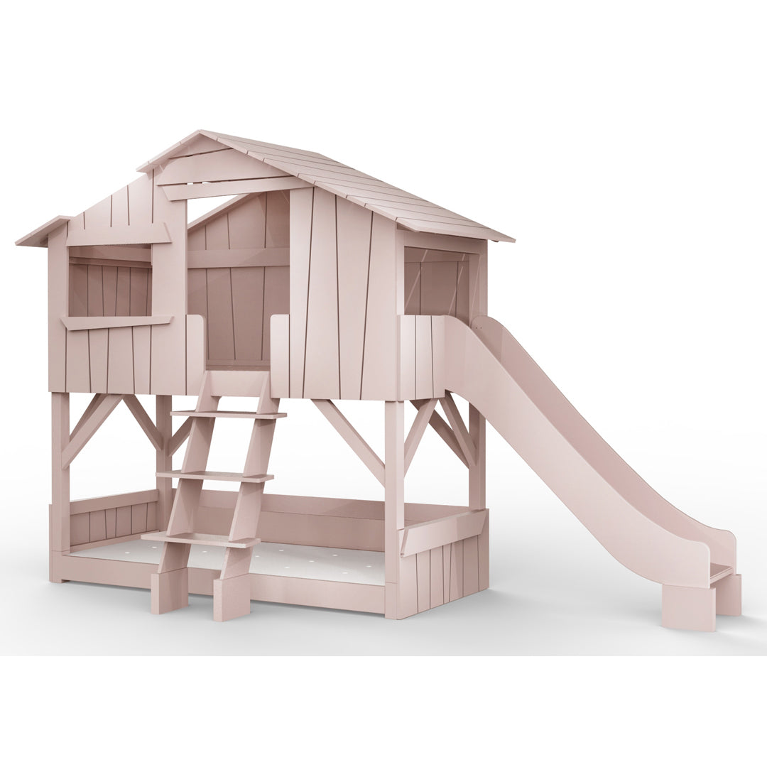 treehouse bunk bed with slide