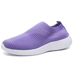 Rimocy Plus Size 46 Breathable Mesh Platform Sneakers Women Slip on Soft Ladies Casual Running Shoes Woman Knit Sock Shoes Flats
