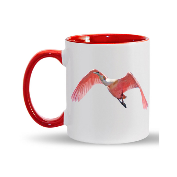 11oz. Mug Spoonbill in Flight