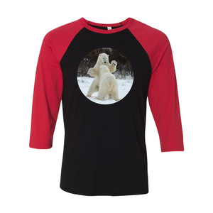Unisex 3/4 Sleeve Polar Bears