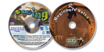 (2 Disc Set) Beginner's Salsa DVD /Learn to Dance Swing CD-ROM
