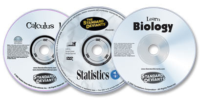 3 DVD Set (Learn Biology /Statistics 1 /Calculus 1)