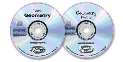 2 DVD Set (Learn Geometry 1/Geometry 2)