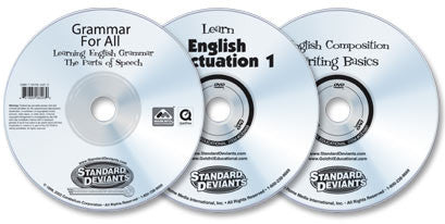 3 DVD Set (Grammar for All/Learn English Punctuation/English Composition)