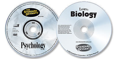 2 DVD Set (Learn Psychology /Biology)