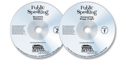 Public Speaking 2 DVD Set (Conquering Stage Fright /Dynamic Delivery)