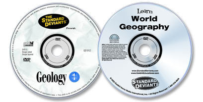 2 DVD Set (Learn World Geography /Geology)