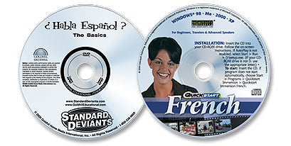 2 Disc Set (Spanish: The Basics DVD /Immersion French CD-ROM)