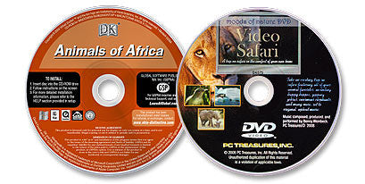2 Disc Set (Animals of Africa CD-ROM /Video Safari DVD)