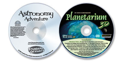 2 Disc Set (Astronomy Adventure DVD /Planetarium 3D CD-ROM)