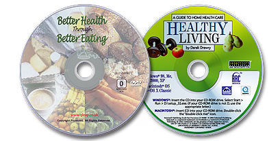 2 Disc Set (Better Health Through Better Eating DVD /Healthy Living CD-ROM)