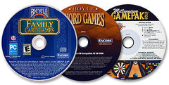 3 CD-ROM Set — Bicycle Family Card Games /Hoyle Word Games /Millennium Gamepak Gold