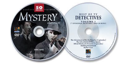 2 DVD Set (Classic Mystery Movies /Best of TV Detectives: Volume 1)