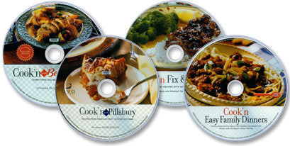4 CD-ROM Set (Betty Crocker/Pillsbury/Family Dinners/Fix & Forget)