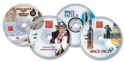 4 DVD Set (Fun Facts & Little Known Facts of American History /Space Facts I & II)