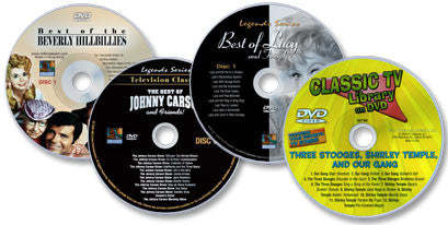 4 DVDs (Best of: Beverly Hillbillies /Johnny Carson/Lucy & Friends/3 Stooges, S. Temple & Our Gang)